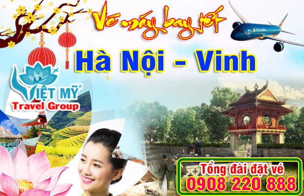 Vé máy bay tết Hà Nội đi Vinh 2018