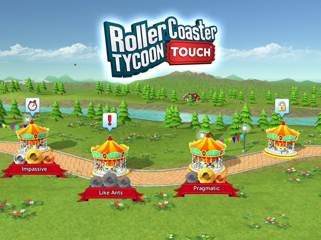 RollerCoaster Tycoon Touch Now Features Scenarios
