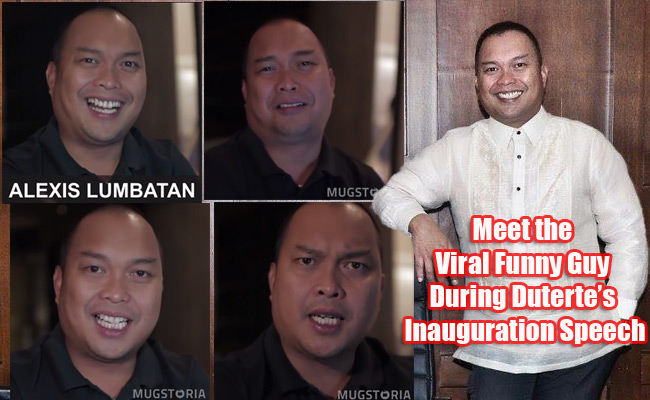 Meet the Viral Funny Guy During Duterte's Inauguration Speech