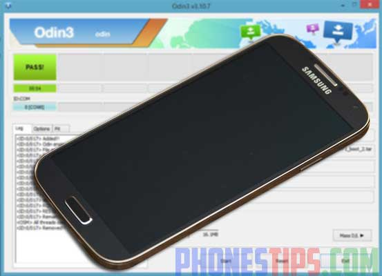 How to Flash Samsung Galaxy S4 GT-I9500 with Odin on PC