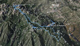 Recorregut: Monestir de Montserrat-Sant Jeroni
