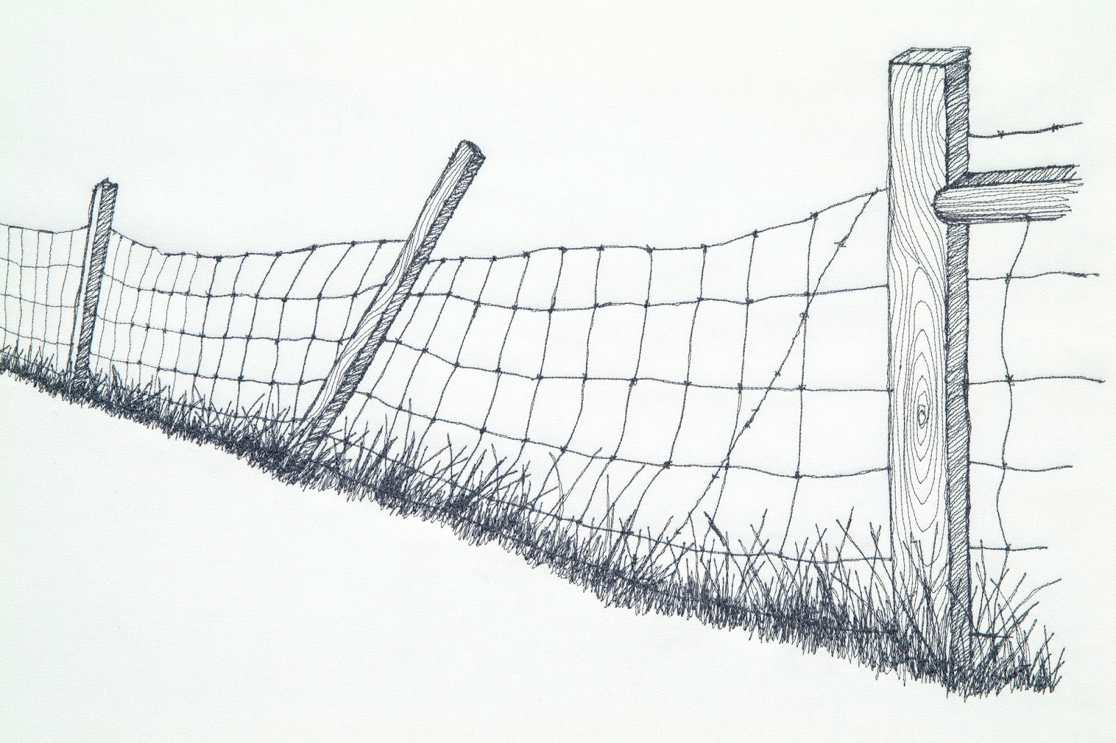 B. J. Adams Small Art Work: Barbed Wire now traveling to