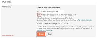 Cara Mengganti Domain Blogspot Menjadi .COM di Niagahoster 12