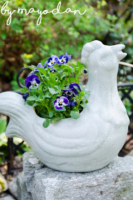 Gartenfigur Huhn