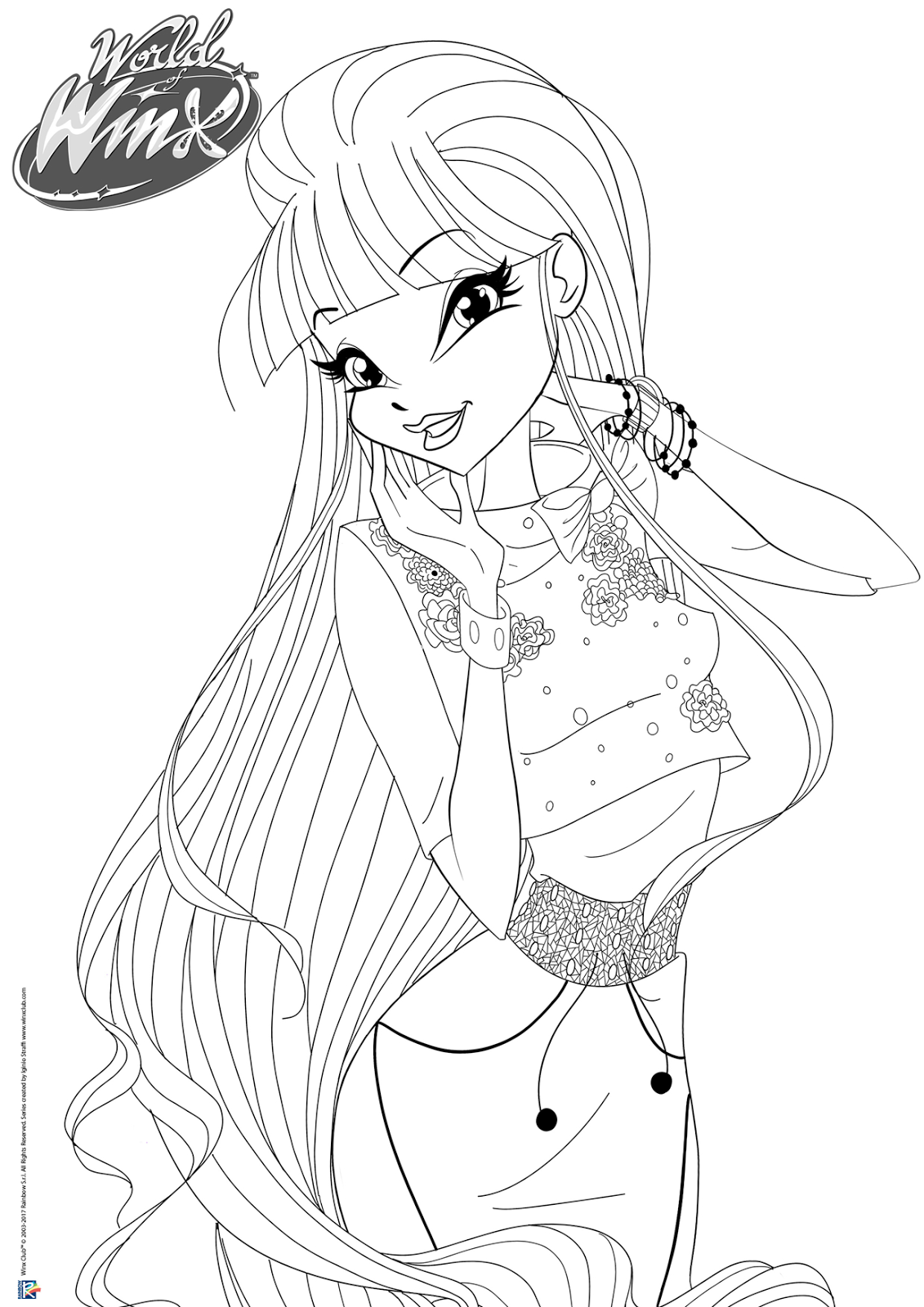 World of winx coloring pages casual outfit for Winx coloring pages online