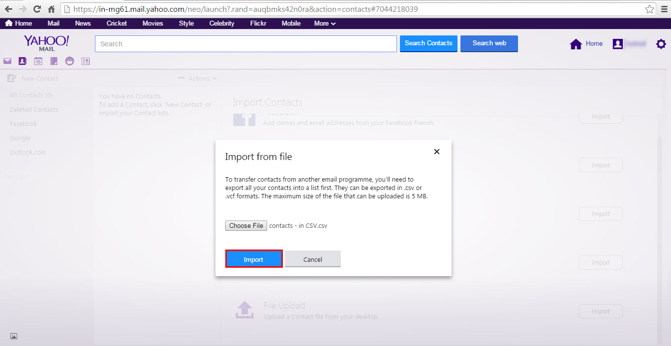 How to Import Excel Contact List to Yahoo Mail?