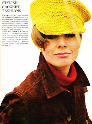 The Vintage Pattern Files: Free 1960's Crochet Pattern - Captain's Cap