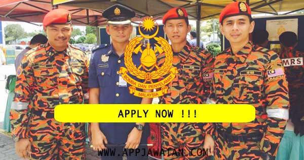 Jawatan Kosong Jabatan Bomba dan Penyelamat Malaysia (JBPM)