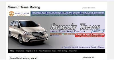 Rental Mobil Malang SUMMIT TRANS Malang