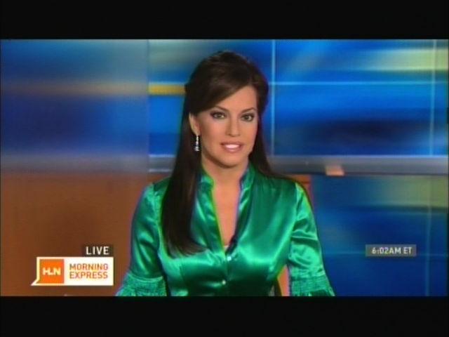 Ladies In Satin Blouses Robin Meade Green Satin Blouse