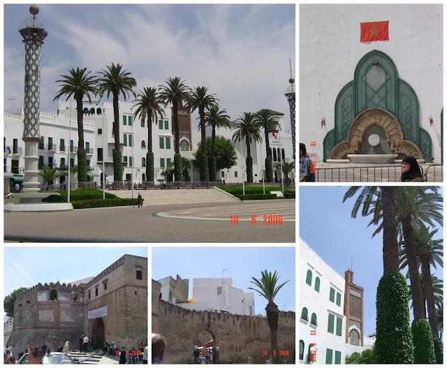 Praça Hassan II em Tetouan, Marrocos