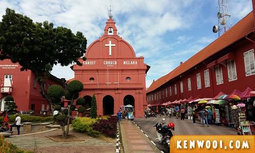 melaka red buildings