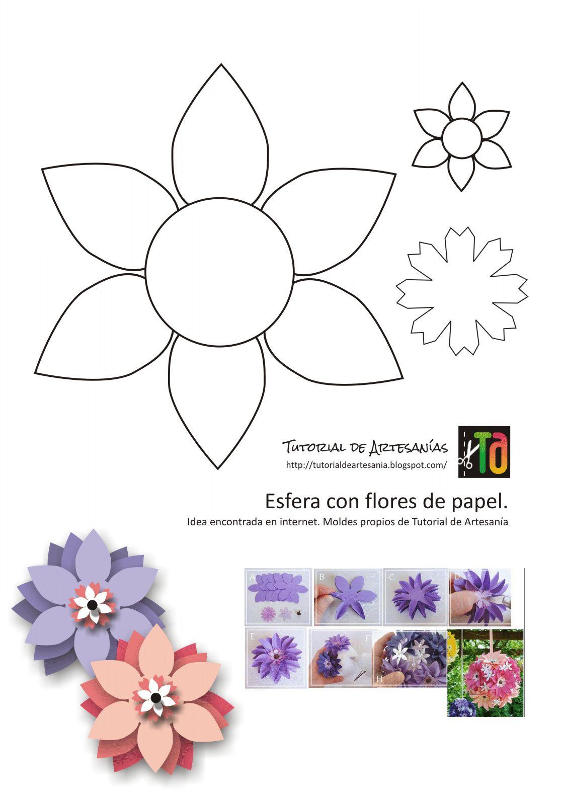 Tutorial De Artesanías Esferas De Flores