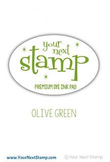 Premium Dye Ink Pad Olive Green
