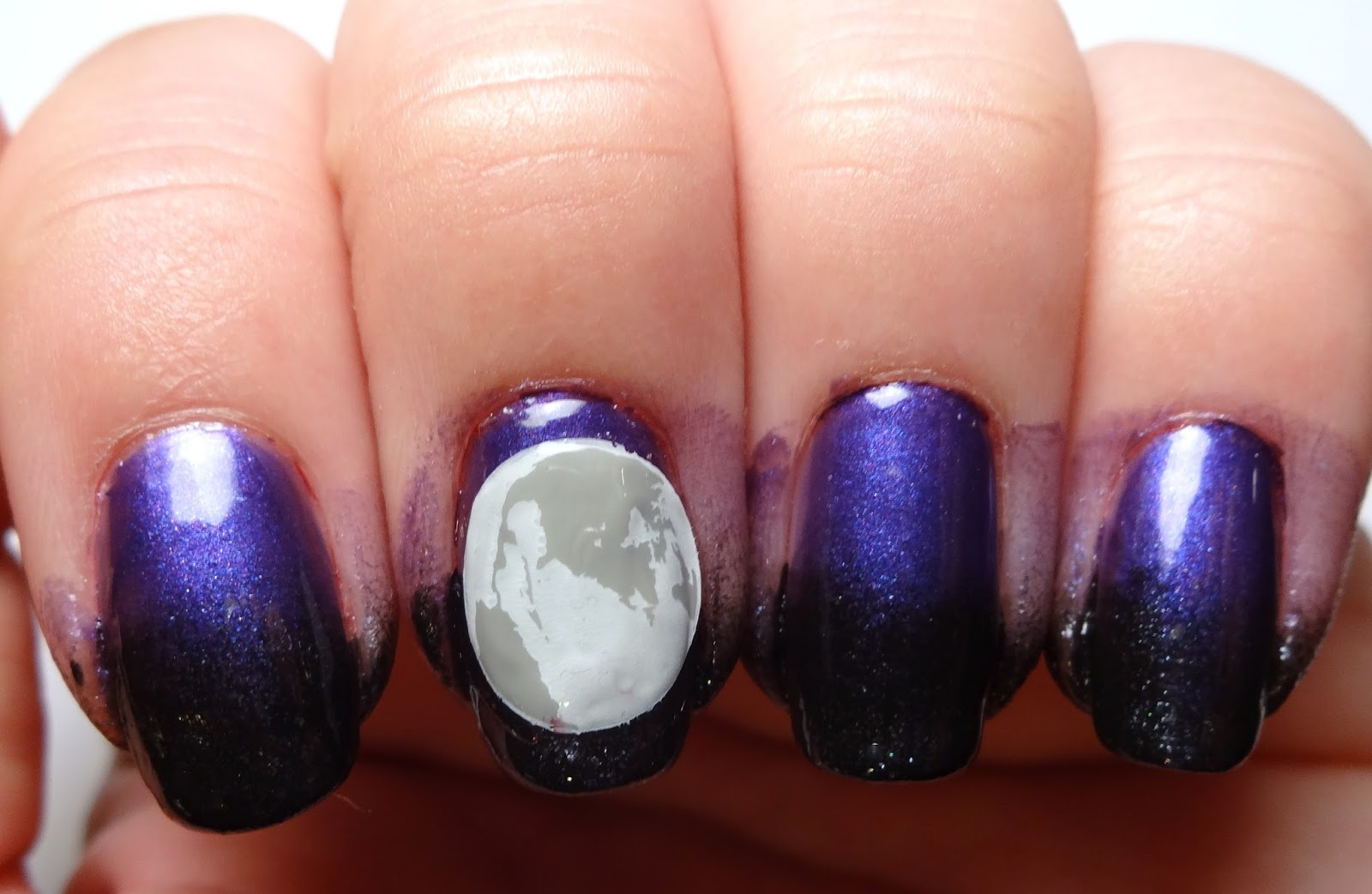 Reverse Stamp Moon Nail