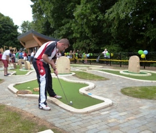 UrbanCrazy Mini Golf course in Barnard Castle, County Durham