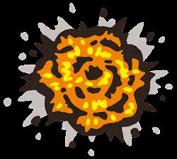 爆発のイラスト(炎・大)