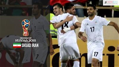Skuad Susunan Pemain Iran di Piala Dunia 2018