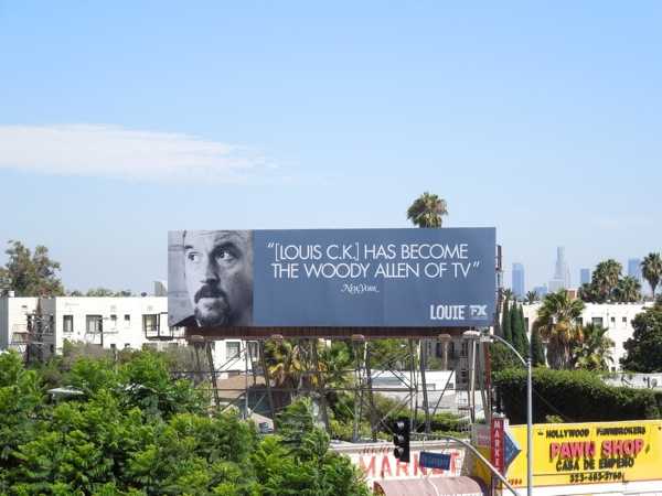 Louis C.K. Woody Allen of TV Emmy 2013 billboard