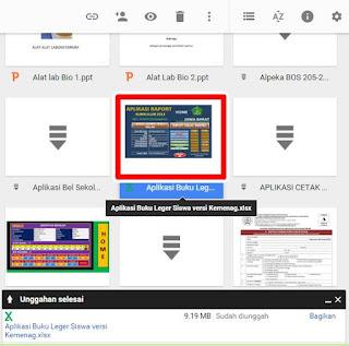 Aplikasi Buku Leger Siswa Excel Format Kurikulum 2013 untuk MTs