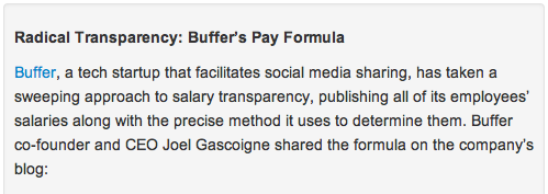 radical transparency buffer's pay formula