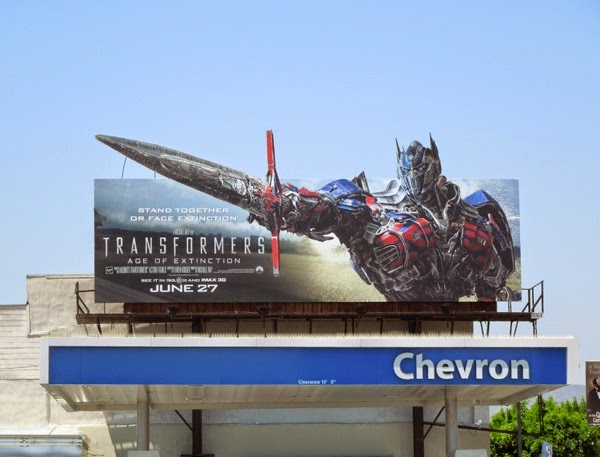 Optimus Prime Transformers Age of Extinction special extension billboard