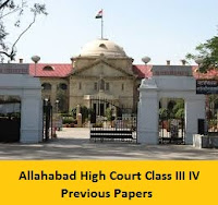 Allahabad High Court Class III IV Previous Papers