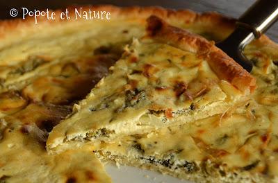 Tarte au brocciu, aux bettes et aux oignons ©Popote et Nature