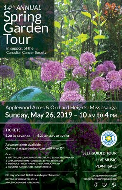 Spring Garden Tour in support of the Canadian Cancer Society