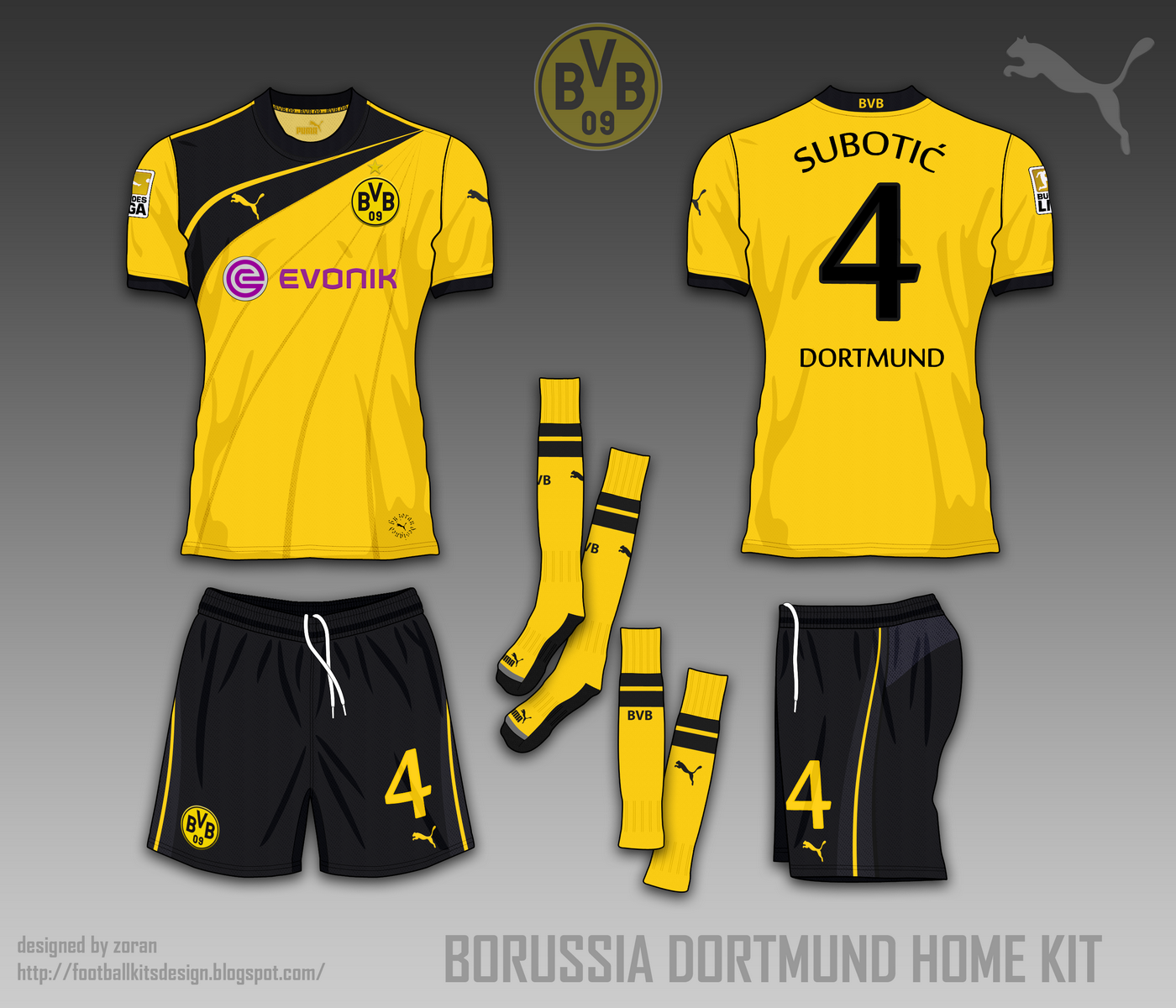 reputable site 19c6f 44120 football kits design: Borussia Dortmund fantasy kits