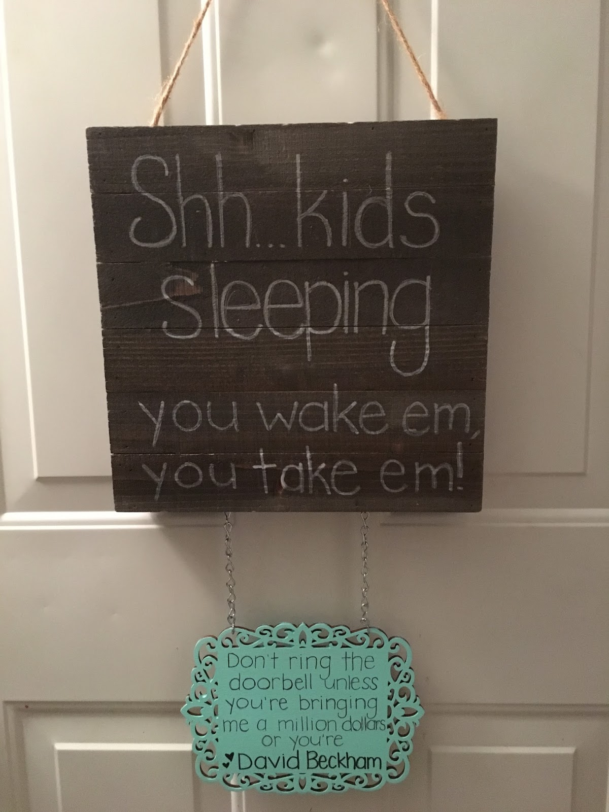 diy baby napping door sign