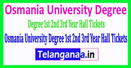 Osmania University Degree 1st 2nd 3rd Year Hall Tickets 2018