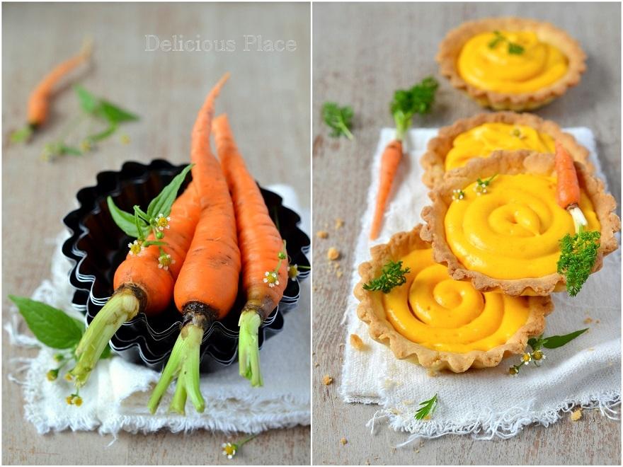 Tarteletki z kremem marchewkowym