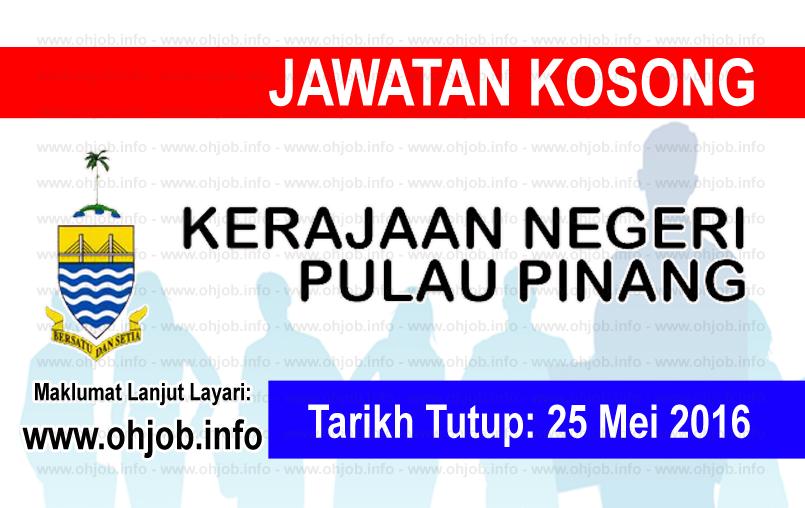 Jawatan Kerja Kosong Pentadbiran Kerajaan Negeri Pulau Pinang logo www.ohjob.info mei 2016