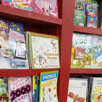 books image on the Back to Stationery Shopping #AtoZchallenge blog post by @JLenniDorner August 2017