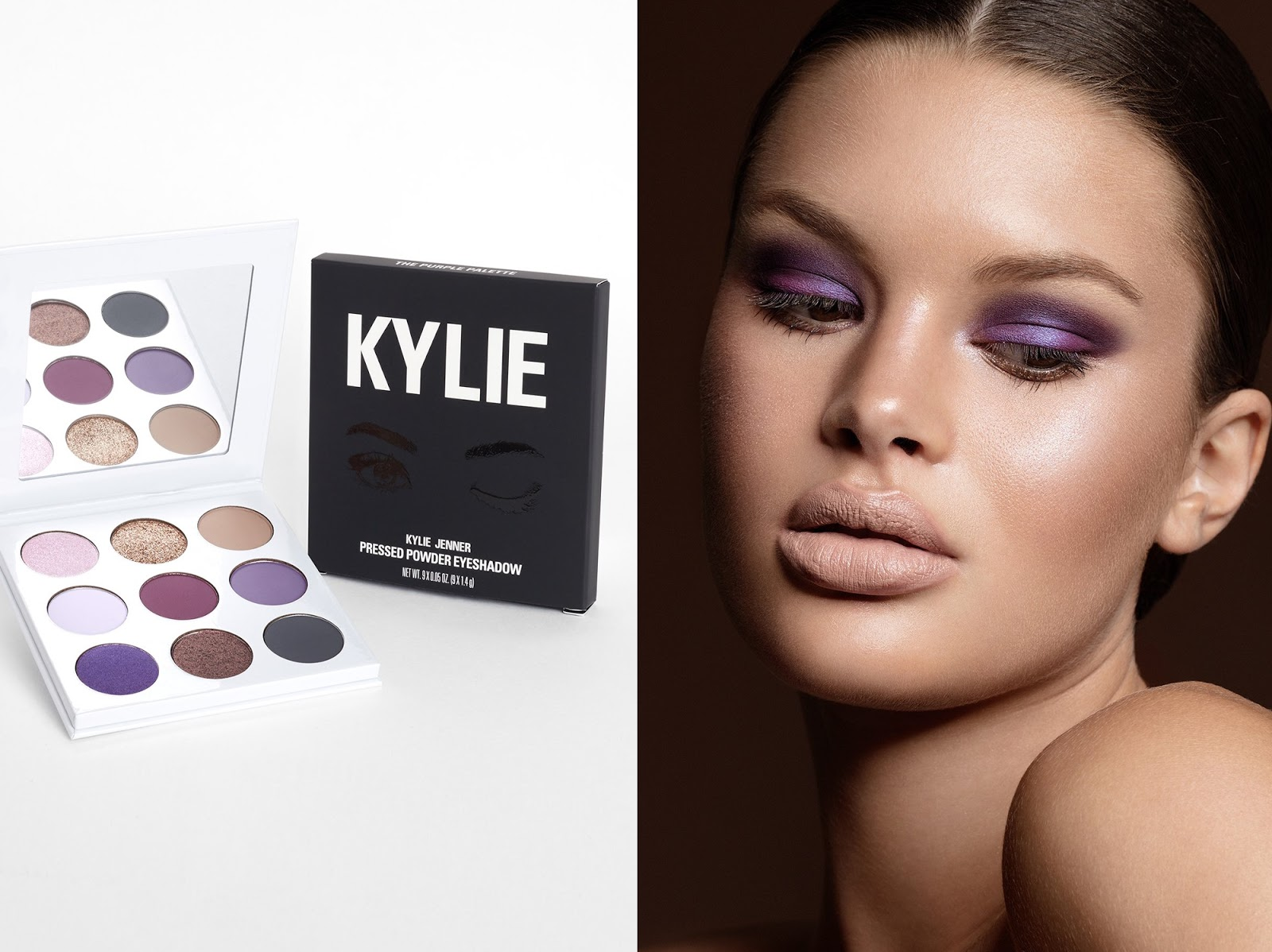 urban decay morphe kat von d kylie jenner cosmetics winter dark smoky eyeshadow palette review