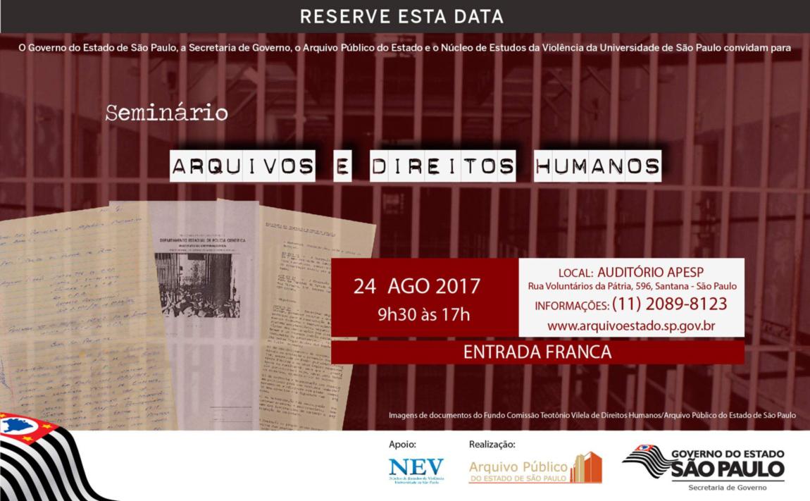 Seminário: Arquivos e Direitos Humanos - APESP