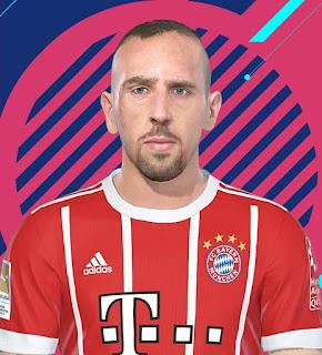 PES 2018 Faces Franck Ribery by Kelvinchan327