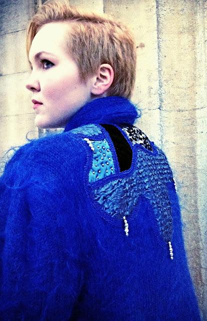 Blue Coat with Embellishments, Fashion Photography