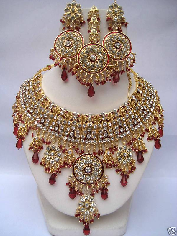 Bridal Kundan Jewellery Designs ~ Bridal Wears