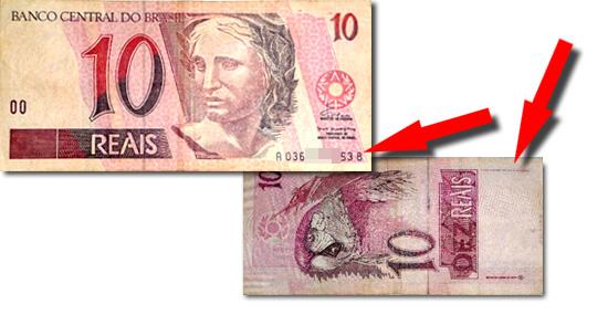 "Cédulas de R$5, R$10 e R$50 ""Importadas"""