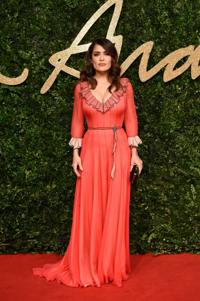 Salma Hayek – British Fashion Awards 2015 in London