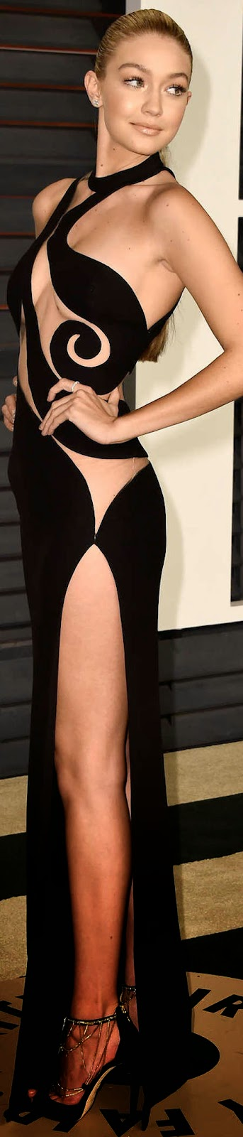2015 Vanity Fair Oscar Party Gigi Hadid