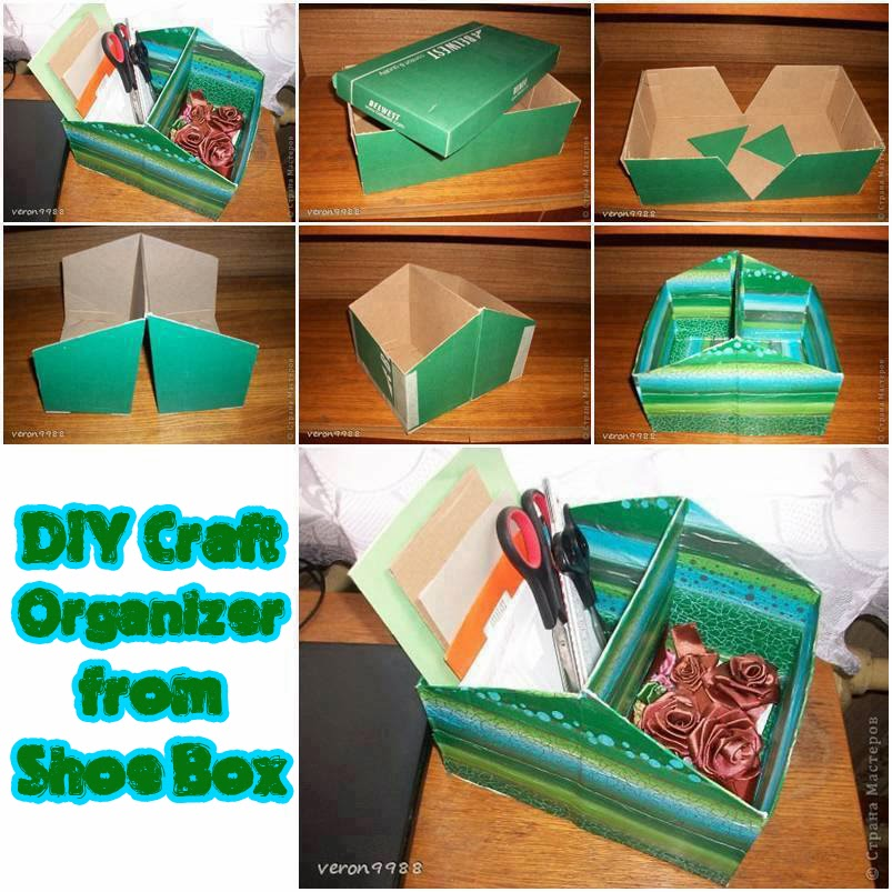 30 Shoe Box Craft Ideas: Astute Homestead: DIY Craft Organizer From Shoe Box