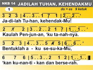 Kord Lagu NKB 14 Jadilah Tuhan, KehendakMu