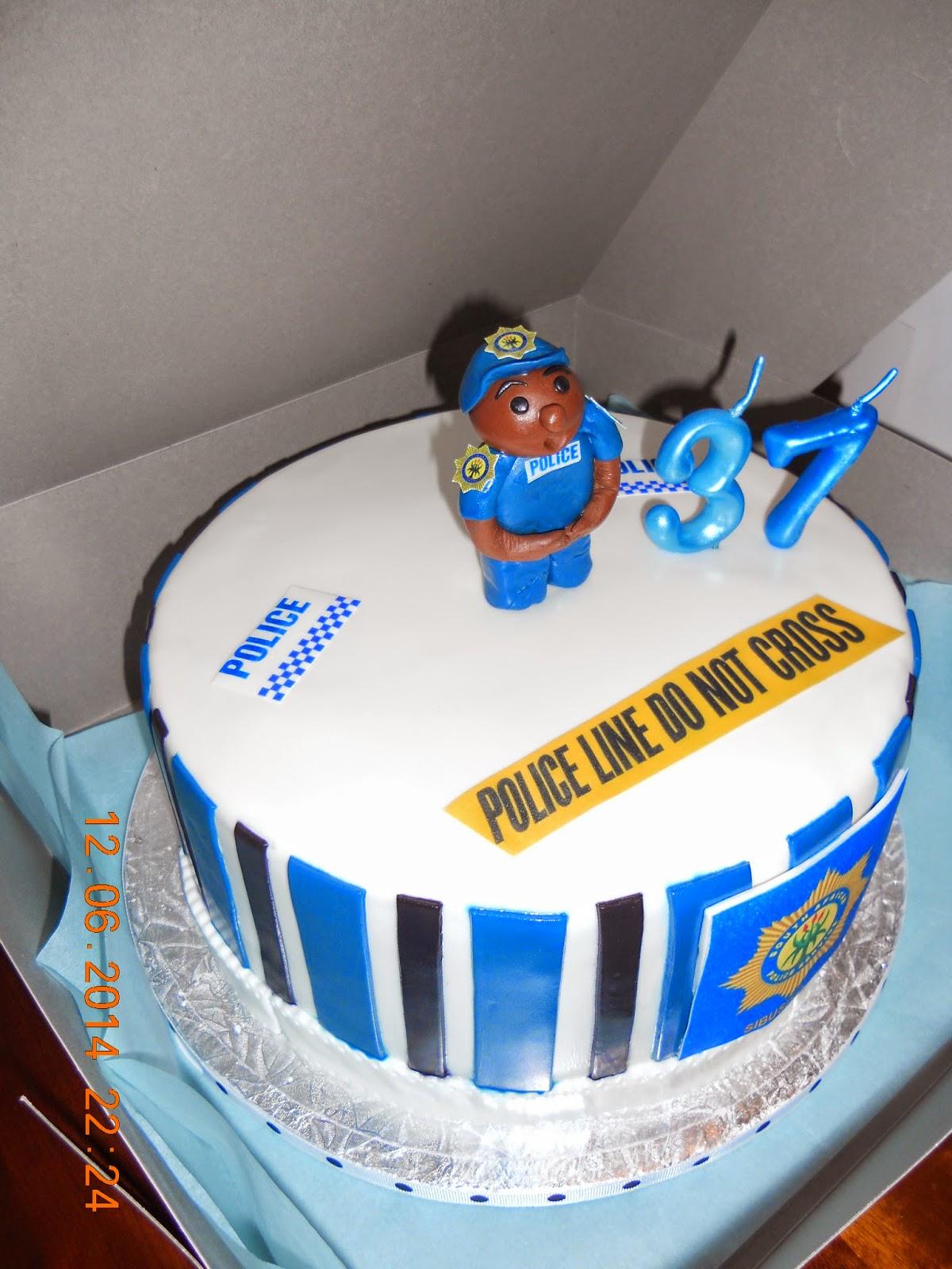 Policeman 37th Birthday Cake For Sibusiso