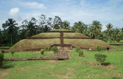 Purbakala Pugung Raharjo Pyramid in South Sumatra Indonesia