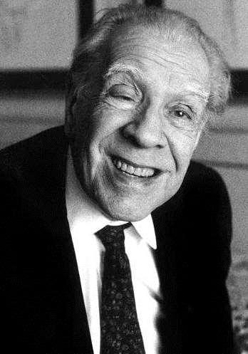 Foto de Jorge Luis Borges sonriendo