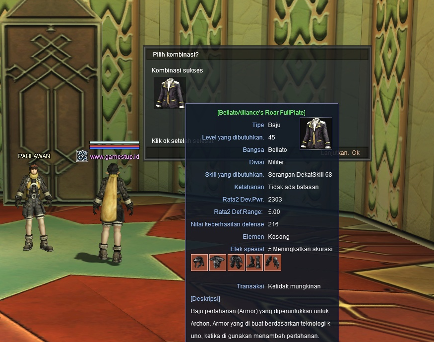 Cara Membuat Archon Uniform dan Guild Master Uniform RF Online