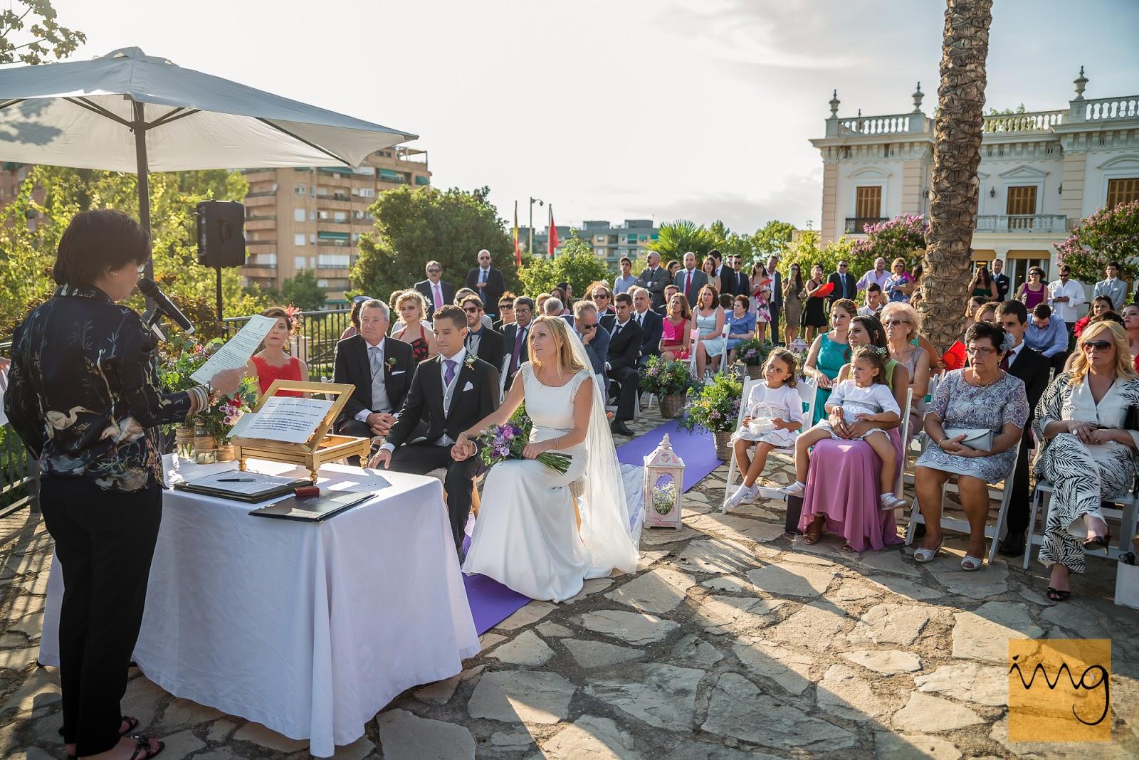 La fotografía del entorno de la ceremonia de la boda